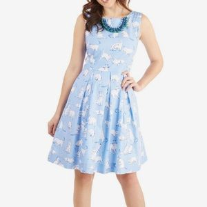 ModCloth Chalk of the Town Dress in Kittens